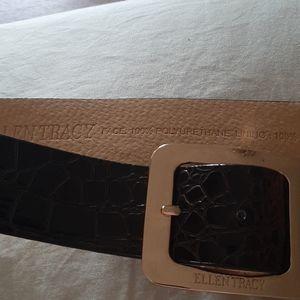 Ellen Tracy Leather Belt